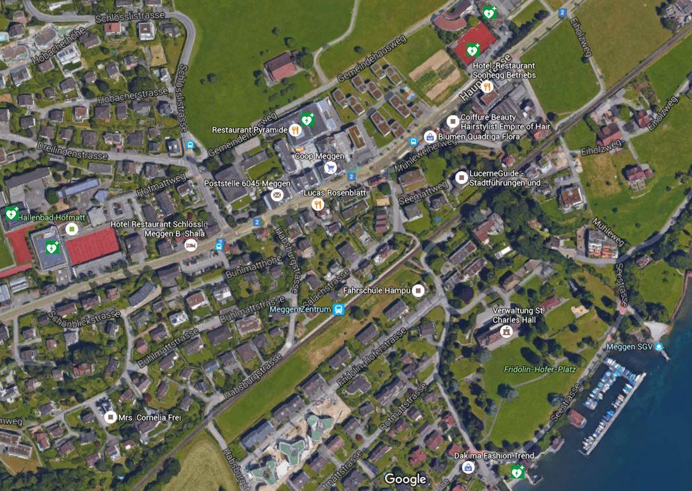 AED Standorte Meggen
